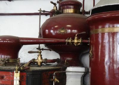 Old wood-fired still with a Moorish shape head capital for cognac