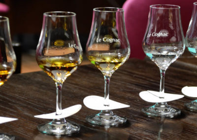 Comparative tasting of cognacs of different ages and growth areas