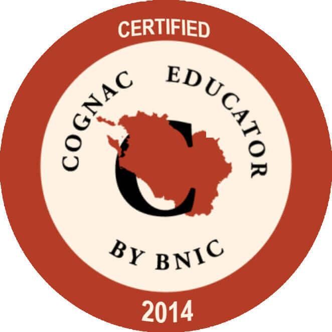 Certifié Cognac Educator par le Bureau National du Cognac