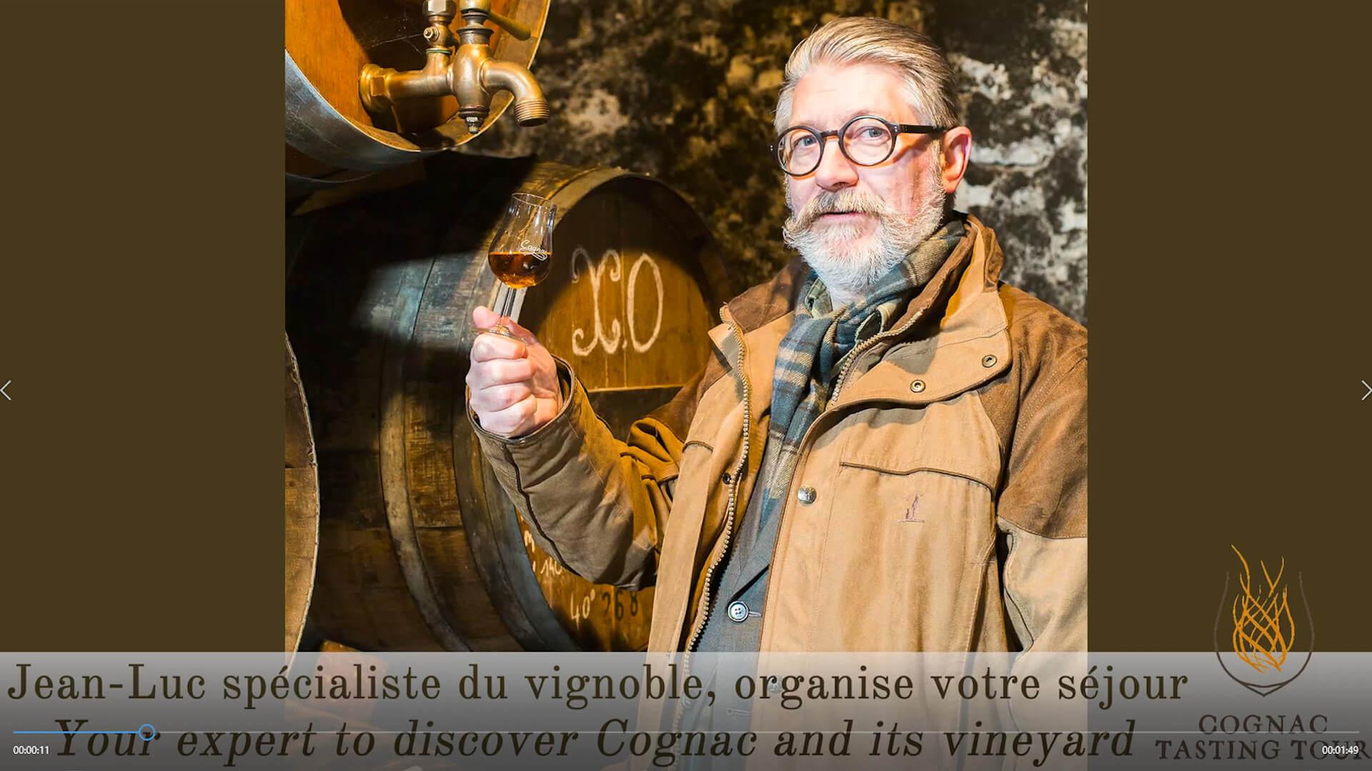 Video presentation of Cognac Tasting Tour on Youtube