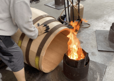 Barrel making discovered during a guided visit of a craft cooperage