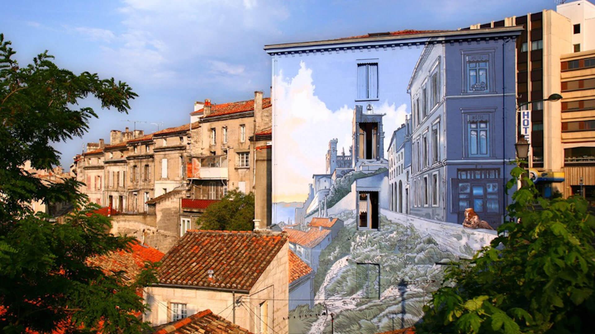 Angoulême capitale de la bande dessinée avec ses murs peints