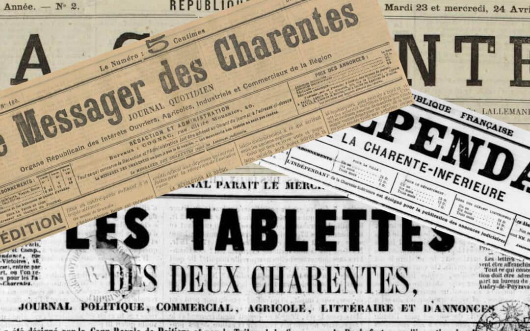 Journal des Charentes et du vignoble de Cognac