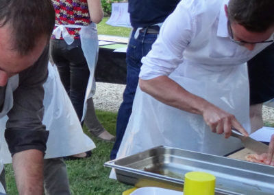Gourmet evening with a food-truck in the Cognac vineyard for a family tribe or a corporate event