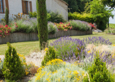 Stroll in the flowered garden of a charming residence in the cognac country